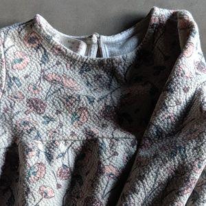 Other - Zara Jacquard Long Sleeved Floral Dress | Sage